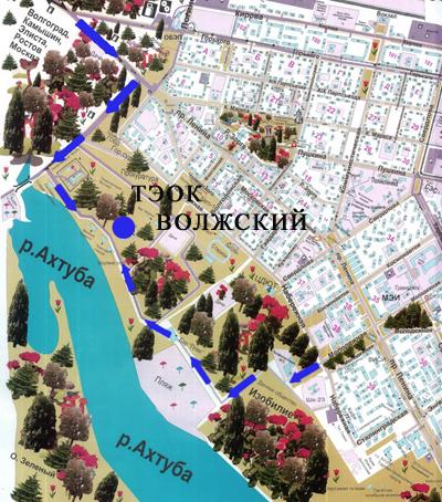 Карта г волжский схема